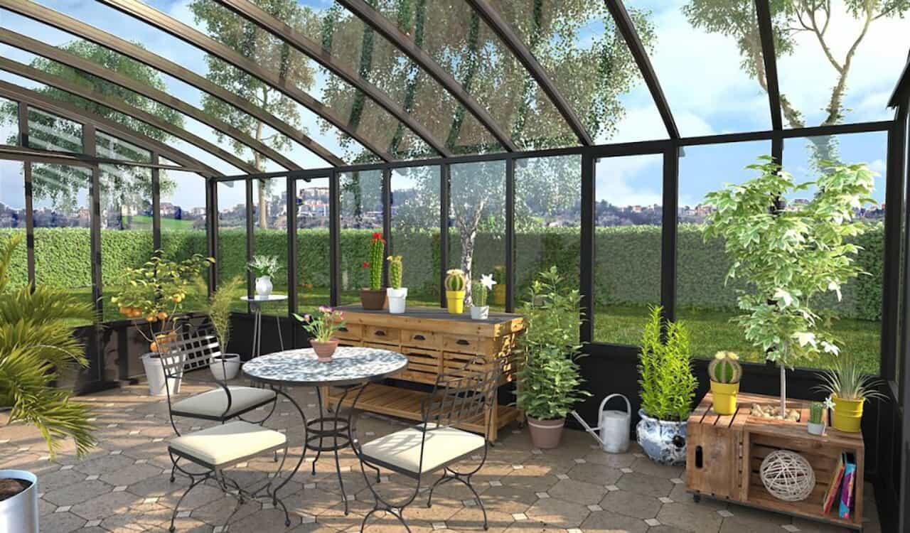 V randa verri re v randa jardin d 39 hiver r noval - Verriere jardin d hiver ...