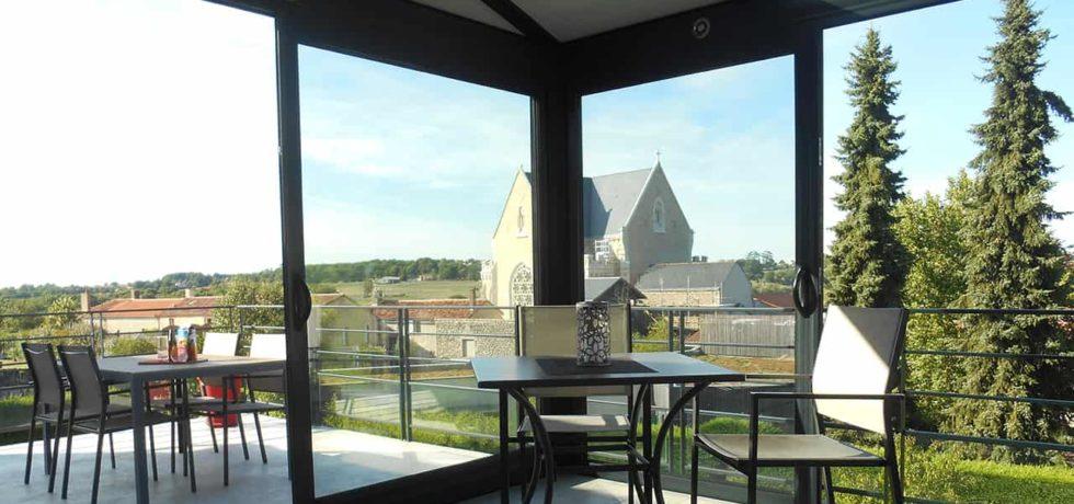 Véranda aluminium noir pour pièce d'agrément - Réalisation Design Véranda à Saint-Hilaire de Mortagne 85
