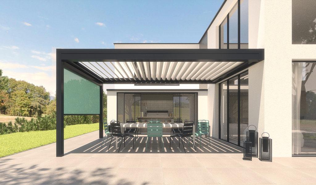 Pergola bioclimatique confort en aluminium - Réalisation Rénoval 49