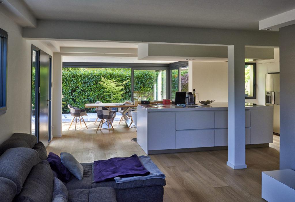 Véranda extension Rénoval - Pièce à vivre cuisine salle à manger - AZ Habitat - département 74